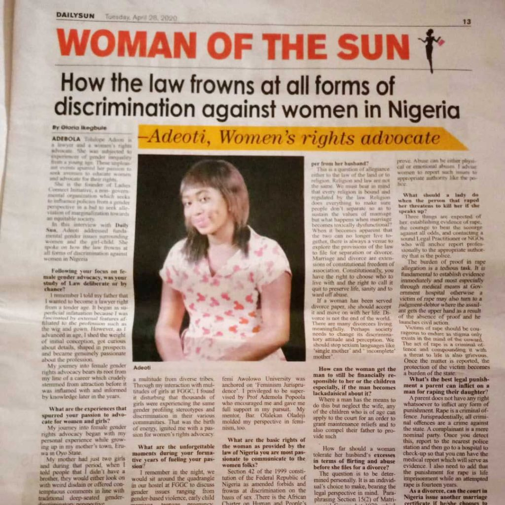 Laddies-Connect-Initiatives-of-The-Sun-Newspaper